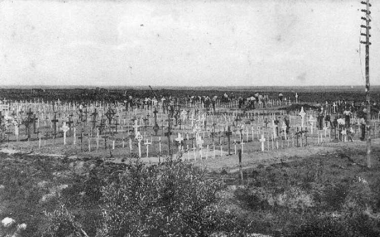 Guards Cemetery, Lesboeufs, just after the Great War