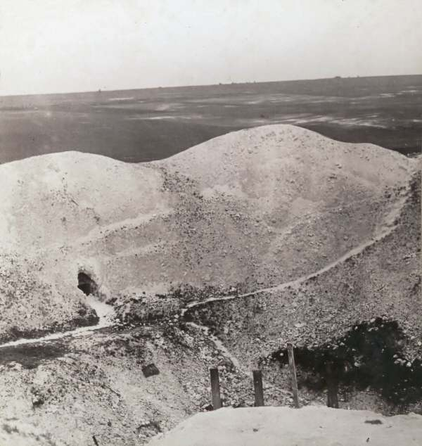 The Lochnagar Crater only a few years after it was blown. Photo Realistic Travels