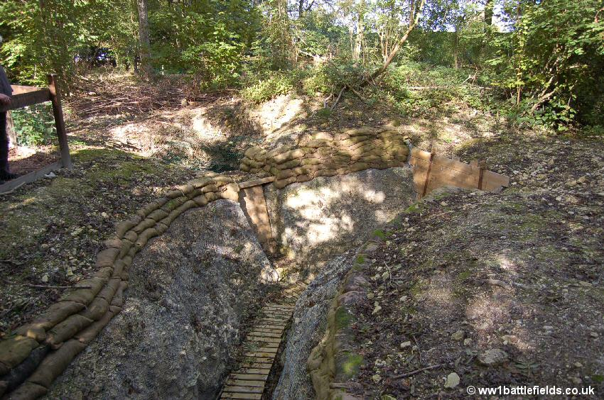 An excavated section of a communication trench