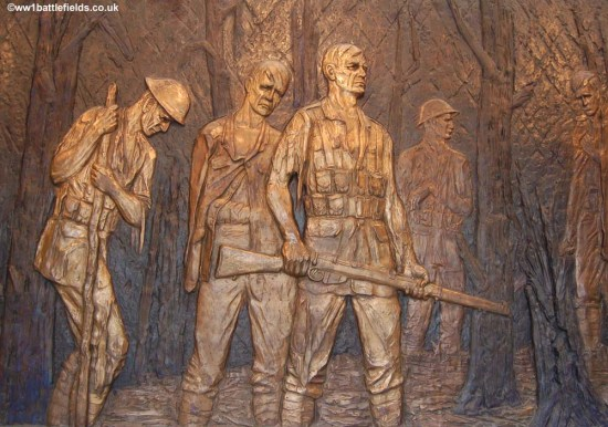 Bronze panels, Delville Wood
