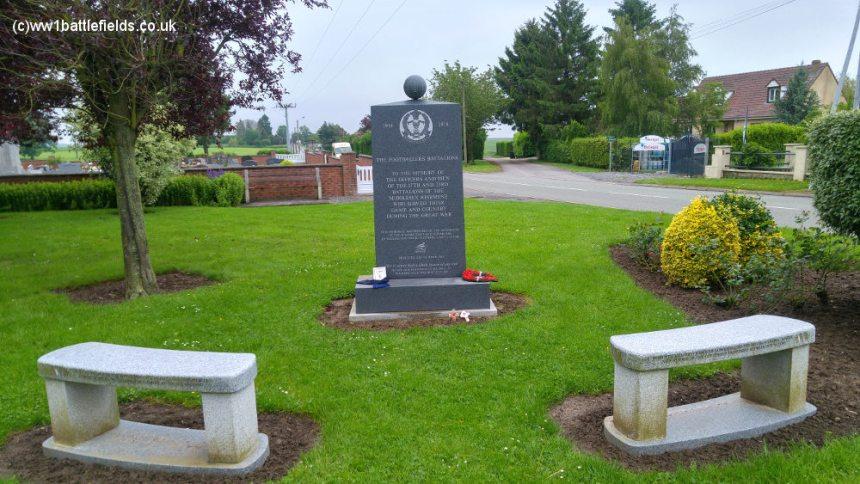 Footballers Memorial at Longueval