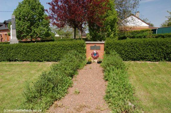 Memorial to the Manchester Regiment in Mametz