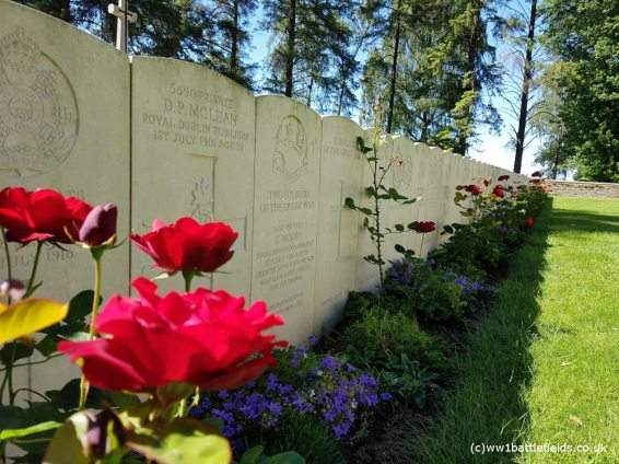 Graves at Hawthorn Ridge No. 2 Cemetery