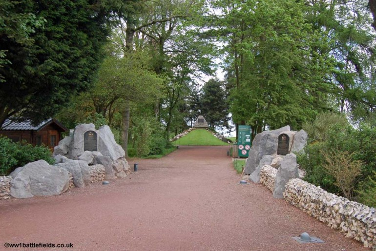 The entrance to the Newfoundland Memorial Park