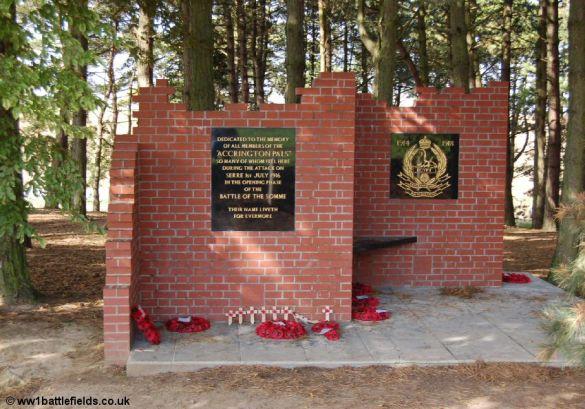 Accrington Pals Memorial at the Sheffield Park