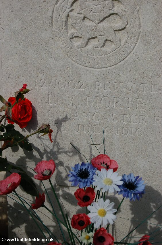 Flowers at Luke Copse Cemetery