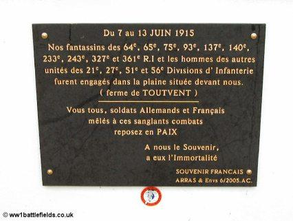 Plaque at chapel near Serre
