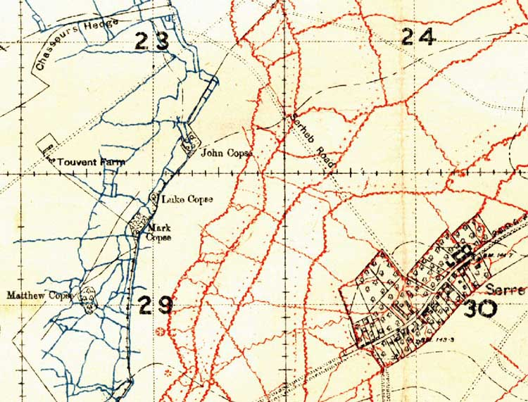Trench Map of the Serre Area