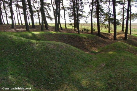 Shellholes in the Sheffield Memorial Park