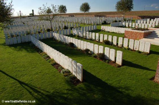 Original Plot 1 graves at Lonsdale Cemetery