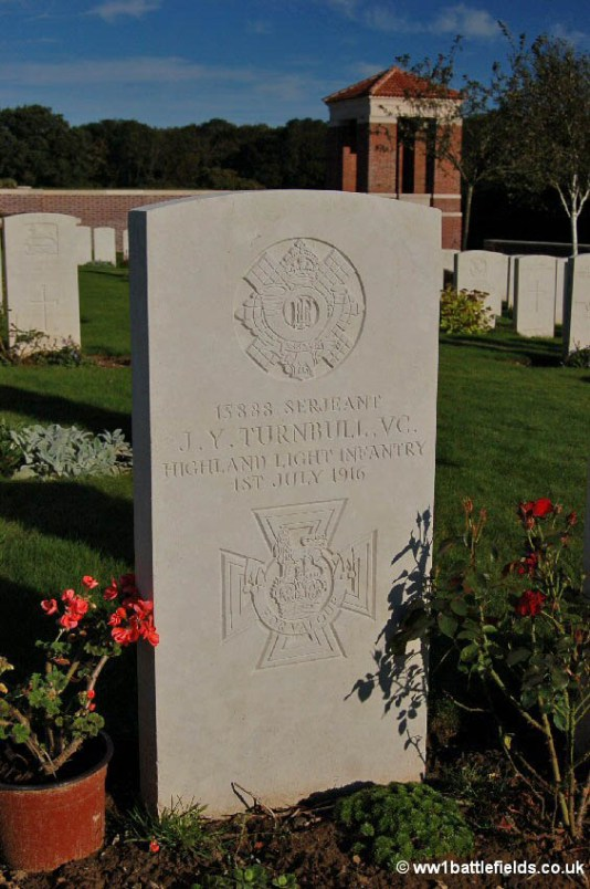 Grave of VC winner Serjeant James Turnbull