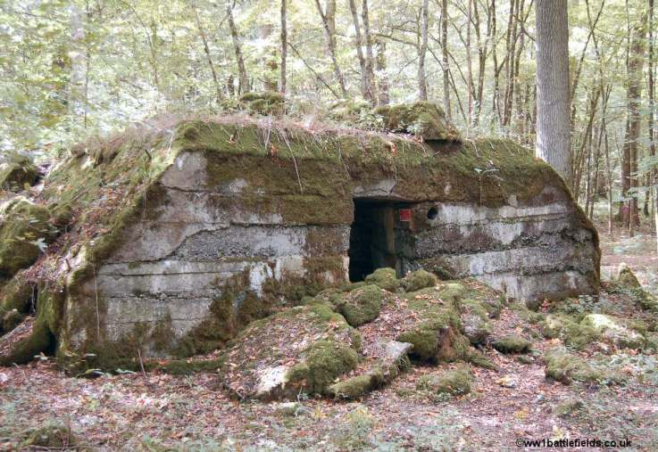 Concrete structures at Camp Marguerre