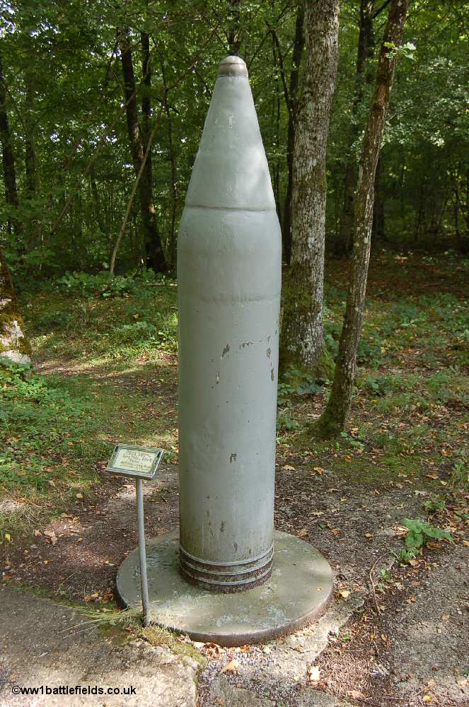 A replica of one of the shells used for 'Max'