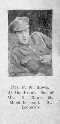 F W Rowe