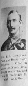 Lindridge, Ernest Leonard
