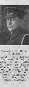 Williams, Frederick William Charles