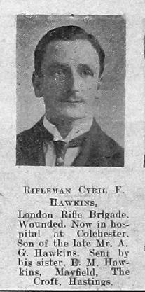 Cyril F Hawkins