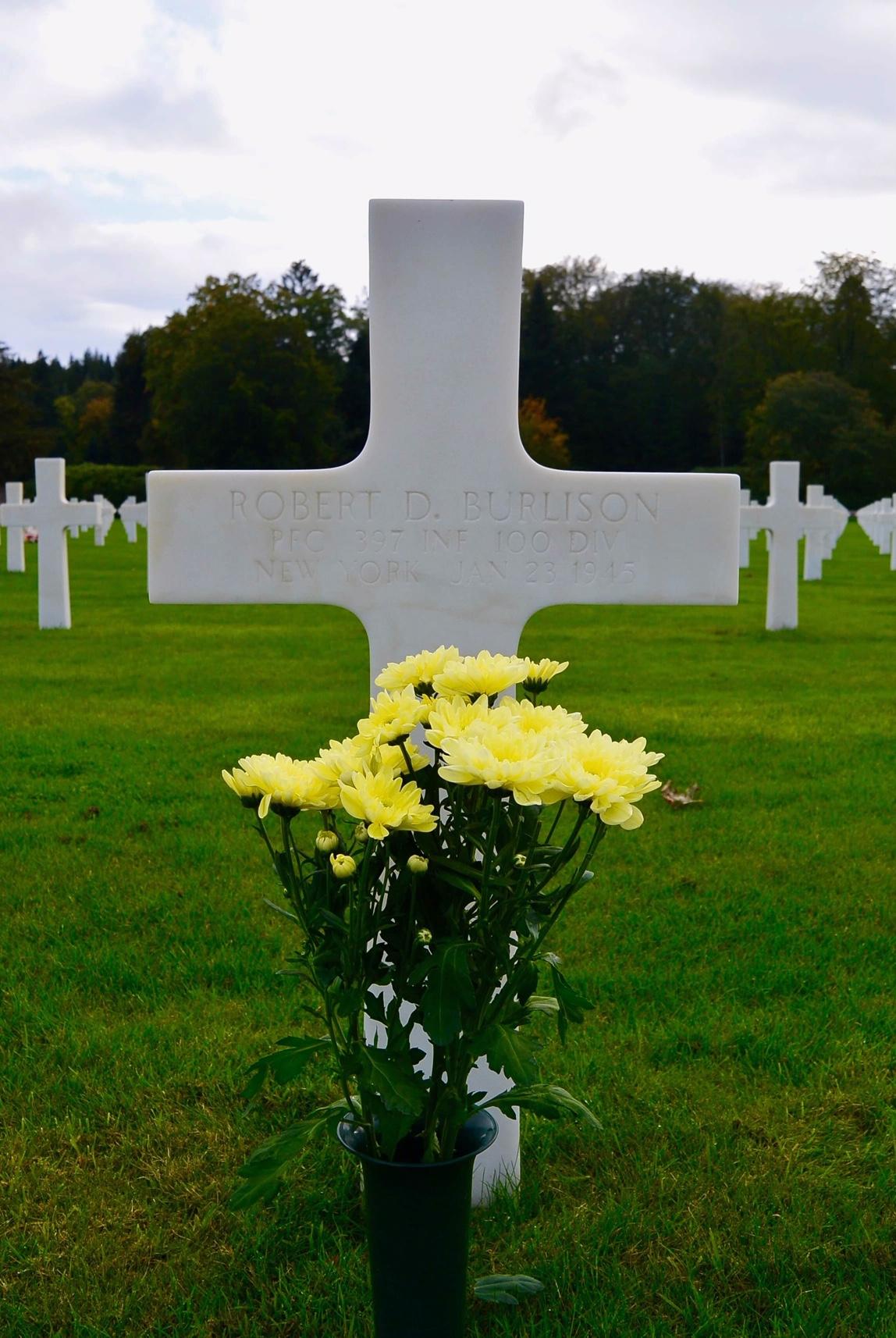 Robert D. Burlison gravesite, Epinal, France