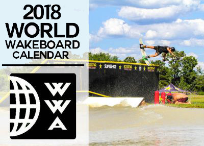 Calendrier Mondial 2018 du wakeboard