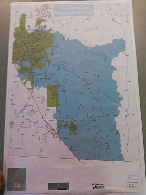 600x800 Map, in Alapahoochee Watershed Area, by John S. Quarterman, for WWALS.net, 15 July 2014