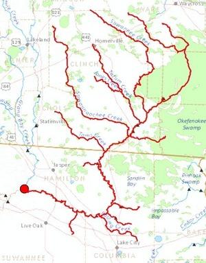300x383 Upper Suwannee River, in Streamer, by John S. Quarterman, for WWALS.net, 20 July 2014