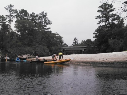1600x1200 Beach at site of planned Naylor Park, in Alapaha River Outing, by John S. Quarterman, for WWALS.net, 24 August 2014
