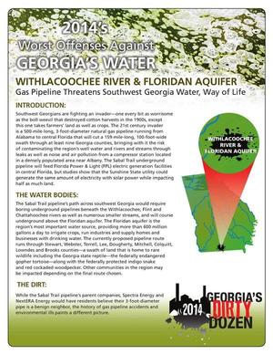 300x388 DD#9 2014 Page 1 of 2, in GWC DD#9: Sabal Trail pipeline threatens Withlacoochee River and Floridan Aquifer, by Georgia Water Coalition, for WWALS.net, 22 October 2014