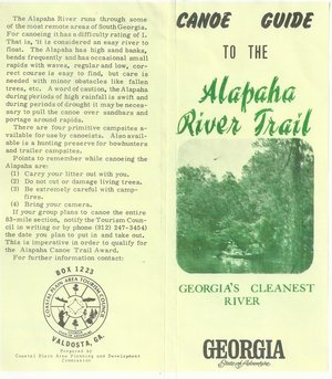 300x343 Georgias Cleanest River, in Canoe Guide to the Alapaha River Trail, by John S. Quarterman, for WWALS.net, 0  1979