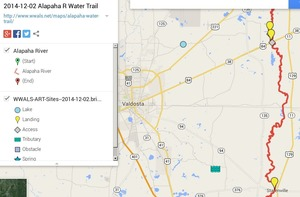 300x197 ARWT South Legend, in Alapaha River Water Trail draft map, by John S. Quarterman, for WWALS.net, 2 December 2014