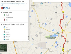 300x229 ARWT Central Legend, in Alapaha River Water Trail draft map, by John S. Quarterman, for WWALS.net, 2 December 2014