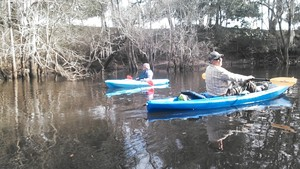 300x169 Heather and Chris, in Alapaha deadfalls, by John S. Quarterman, for WWALS.net, 17 January 2015