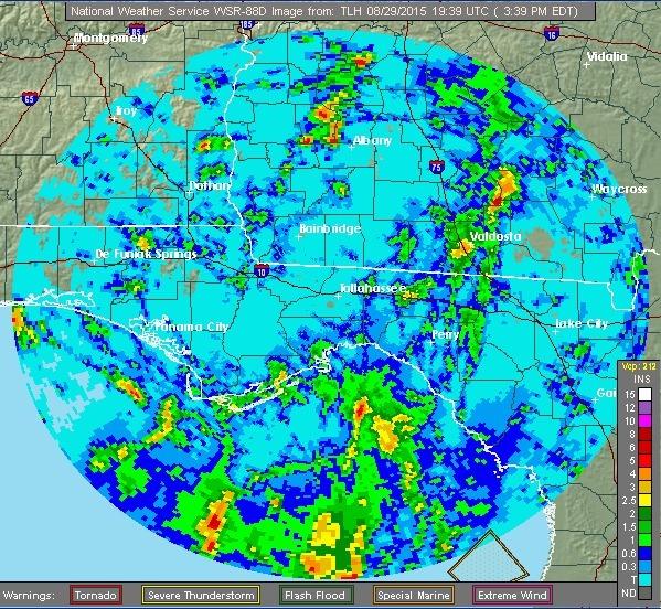 NWS Tallahassee storm precipitation