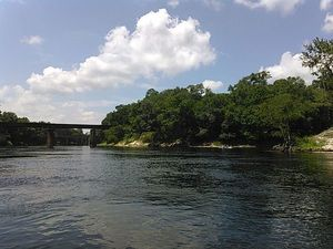 Withlacoochee Confluence and railroad bridge 30.3856888, -83.1705932