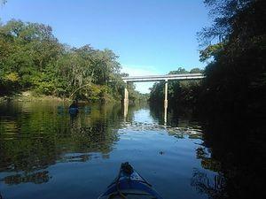 CR 150 bridge, looking upstream 30.5956955, -83.2594681