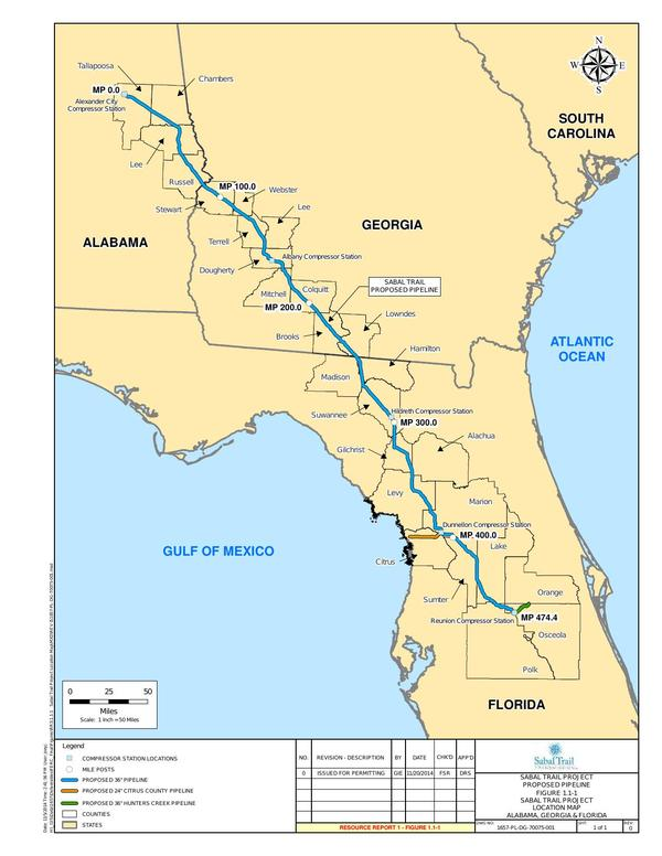 Sabal Trail Project Location Map