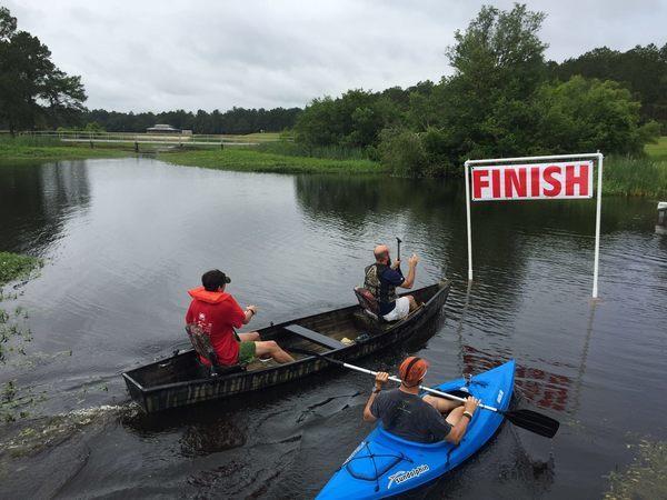 Two person canoe, male: Ben Davis & Rob McGhin, Valdosta