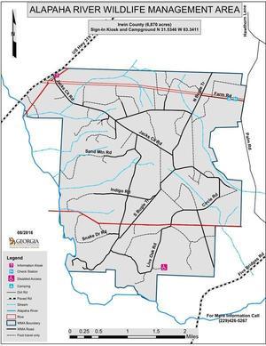 Line Map: Alapaha River WMA