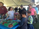 Rachael explaining watershed to children