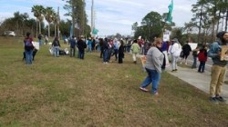 Gathering for Walk for Water & Speak for Springs
