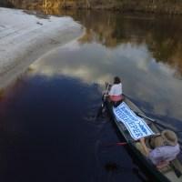 On the Suwannee River, Sabal Trail drill path 2017-02-12