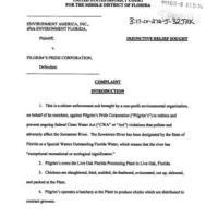 Legal filing about Pilgrim's Pride effluent into Suwannee River