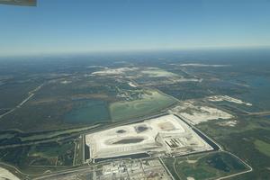 W across PCS Phosphate Mine, 30.4429360, -82.7851800