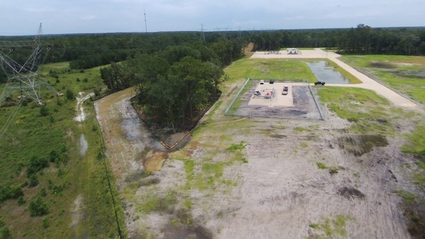Aerial of Sabal Trail Dunnellon Compressor Station site
