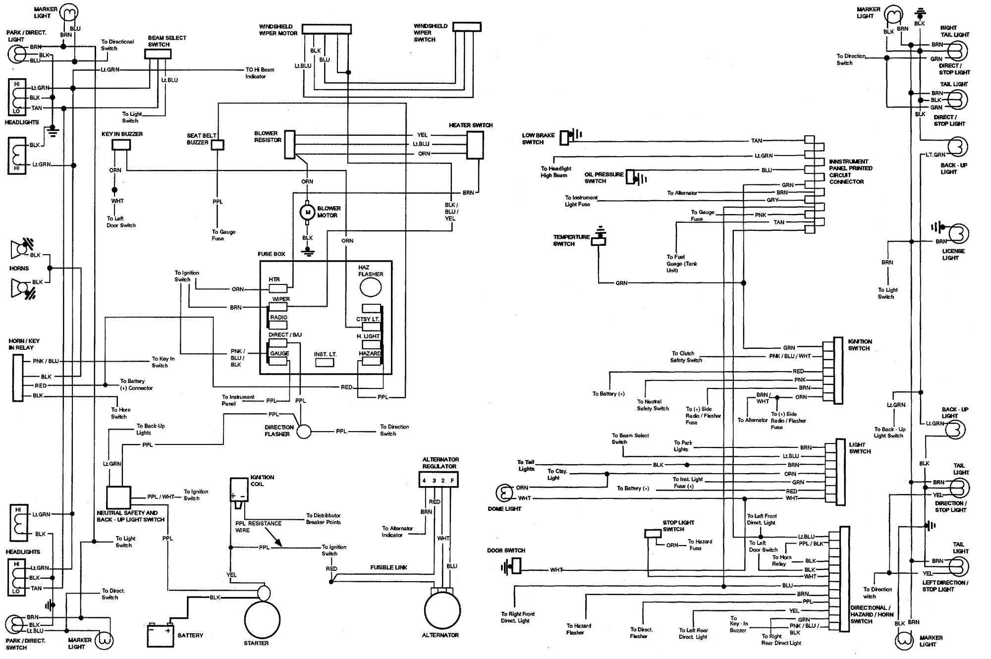 Wire Schematic 65 Chevelle