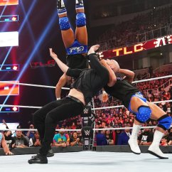 Steel Chair In Wrestling Upside Down For Back Pain Kurt Angle Health Slater And Others Deliver Brutal Strikes To Baron Corbin Wwe Tlc 2018 Network Exclusive