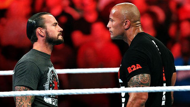 CM Punk and The Rock