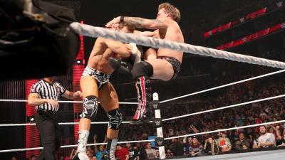 The loss infuriates Jericho, who retaliates with a Codebreaker.