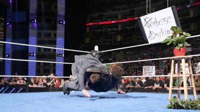 Ambrose drops his guest with Dirty Deeds.