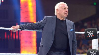 Flair cannot hold back the tears after his daughter's shocking insults.