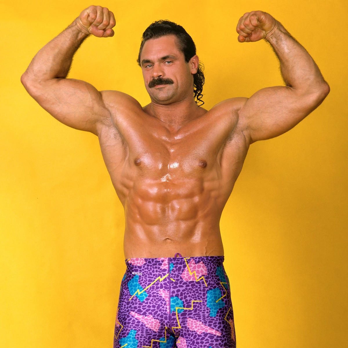 """Ravishing"" Rick Rude was a champion arm wrestler thanks to his legendary grip strength."